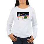 XmasSigns/Old English #3 Women's Long Sleeve T-Shi