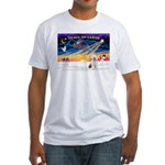 XmasSunrise/OES #3 Fitted T-Shirt