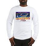 XmasSunrise/3 Whippets Long Sleeve T-Shirt