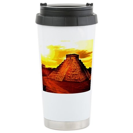 /mayan Temple Stainless Steel Travel Mug