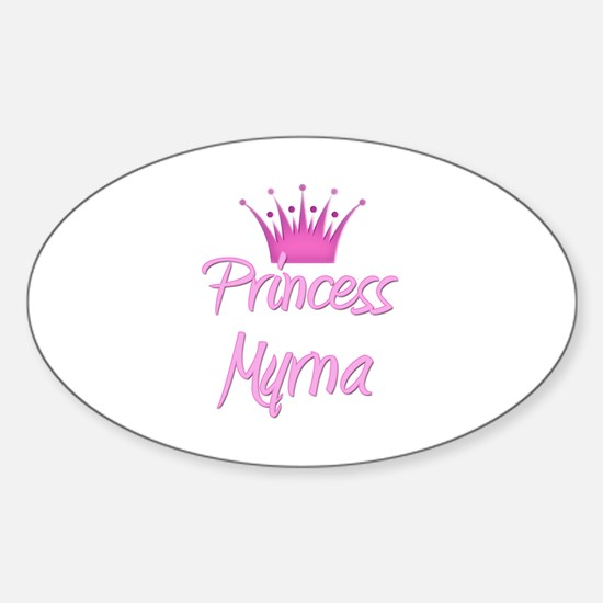 Princess Myrna Oval Decal