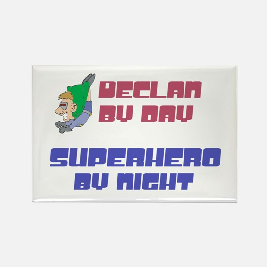 Declan - Super Hero by Night Rectangle Magnet