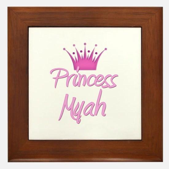 Princess Myah Framed Tile