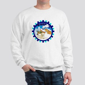 Log Cabin Yellow Lab Sweatshirt