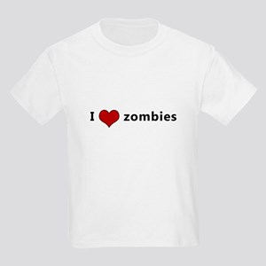 I Heart (Love) Zombies Kids Light T-Shirt