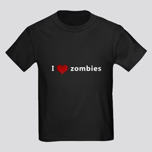 I Heart (Love) Zombies Kids Dark T-Shirt