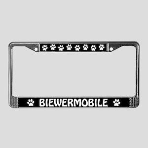 Biewermobile (Biewer Yorkie) License Plate Frame