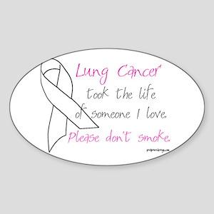 Lung Cancer Awareness - Oval Sticker