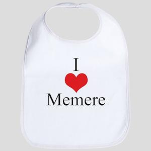 I Love (Heart) Memere Bib