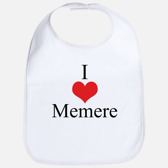 I Love (Heart) Memere Bib