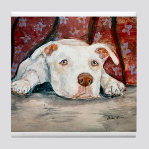 Siouxise a Pit Bull Tile Coaster