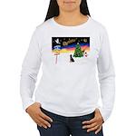 XmasSigns/Lab (choc) Women's Long Sleeve T-Shirt