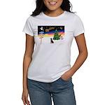 XmasSigns/Lab (choc) Women's T-Shirt