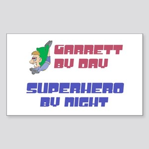 Garrett - Super Hero by Night Rectangle Sticker