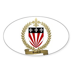 ROULEAU Family Crest Oval Decal