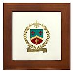ROUSSEL Family Crest Framed Tile