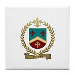 ROUSSEL Family Crest Tile Coaster