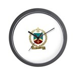 ROUSSEL Family Crest Wall Clock