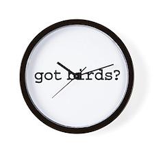 got birds? Wall Clock