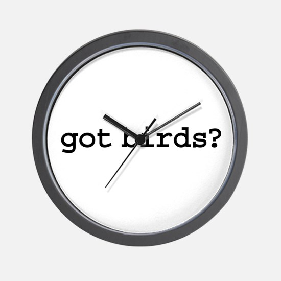 got birds? Wall Clock
