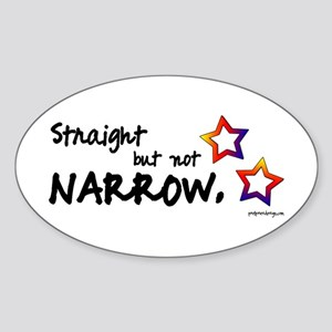 Straight but Not Narrow - Oval Sticker