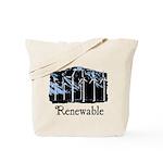 Renewable Wind Energy Reusable Tote Bag