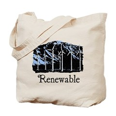 Renewable Wind Energy Reusable Tote Bag