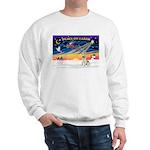 XmasSunrise/Fox Ter #4 Sweatshirt