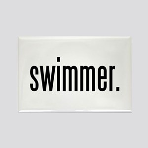 swimmer. Rectangle Magnet