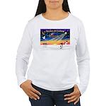 XmasSunrise/Fox Ter #1 Women's Long Sleeve T-Shirt