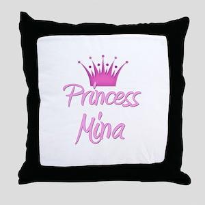 Princess Mina Throw Pillow