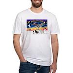 XmasSunrise/4 Fr Bulldogs Fitted T-Shirt