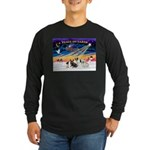 XmasSunrise/4 Fr Bulldogs Long Sleeve Dark T-Shirt