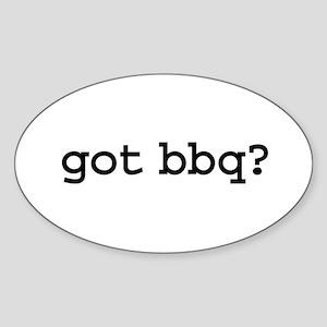 got bbq? Oval Sticker