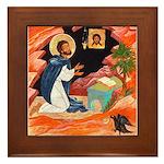 First St. Benedict Framed Tile