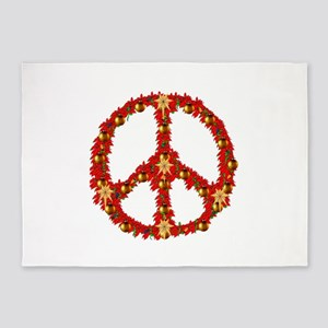 Peace Wreath 5'x7'Area Rug