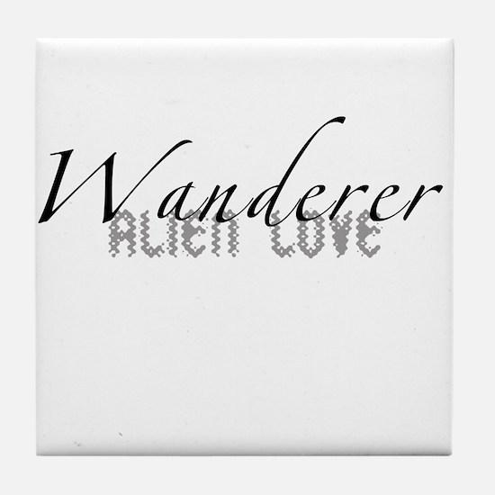 Wanderer Alien Love Tile Coaster