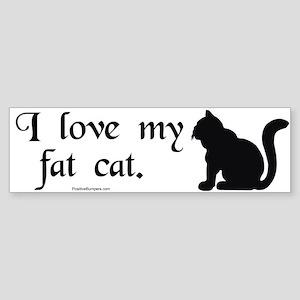 I love my fat cat