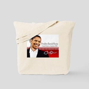 Prez Smile red Tote Bag