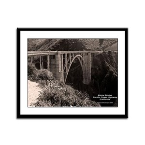 Bixby Bridge Framed Panel Print