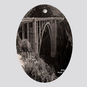 Bixby Bridge Oval Ornament