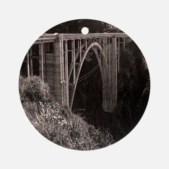 Bixby Bridge Ornament (Round)
