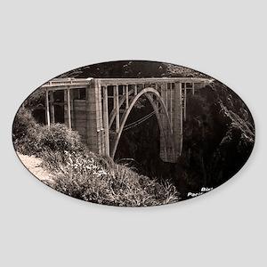 Bixby Bridge Oval Sticker