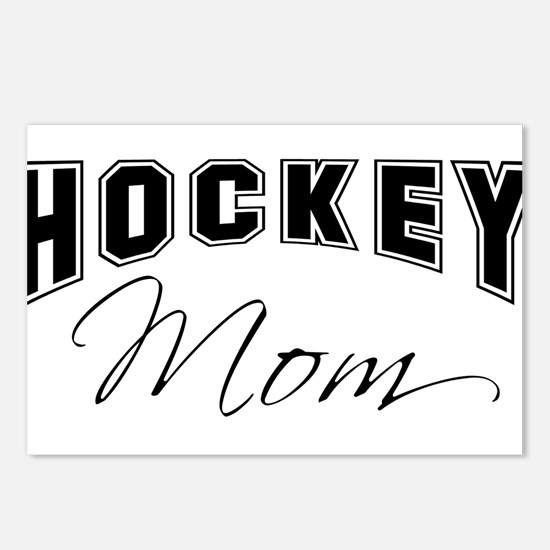 Hockey Mom (black) Postcards (Package of 8)