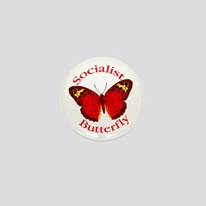 Socialist Butterfly Mini Button