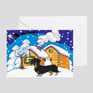 Log Cabin Dachshund Greeting Cards (Pk of 10)