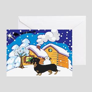 Log Cabin Dachshund Greeting Cards (Pk of 10)
