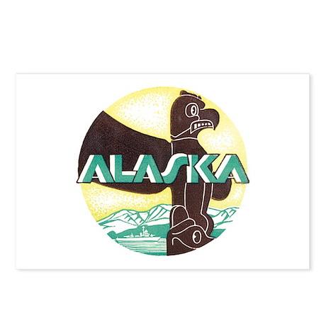 Alaska Totem Pole Postcards (Package of 8)