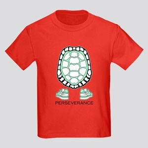 Turtle Perseverance Kids Dark T-Shirt