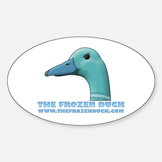 The Frozen Duck Oval Decal